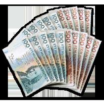 Bunt med pengar