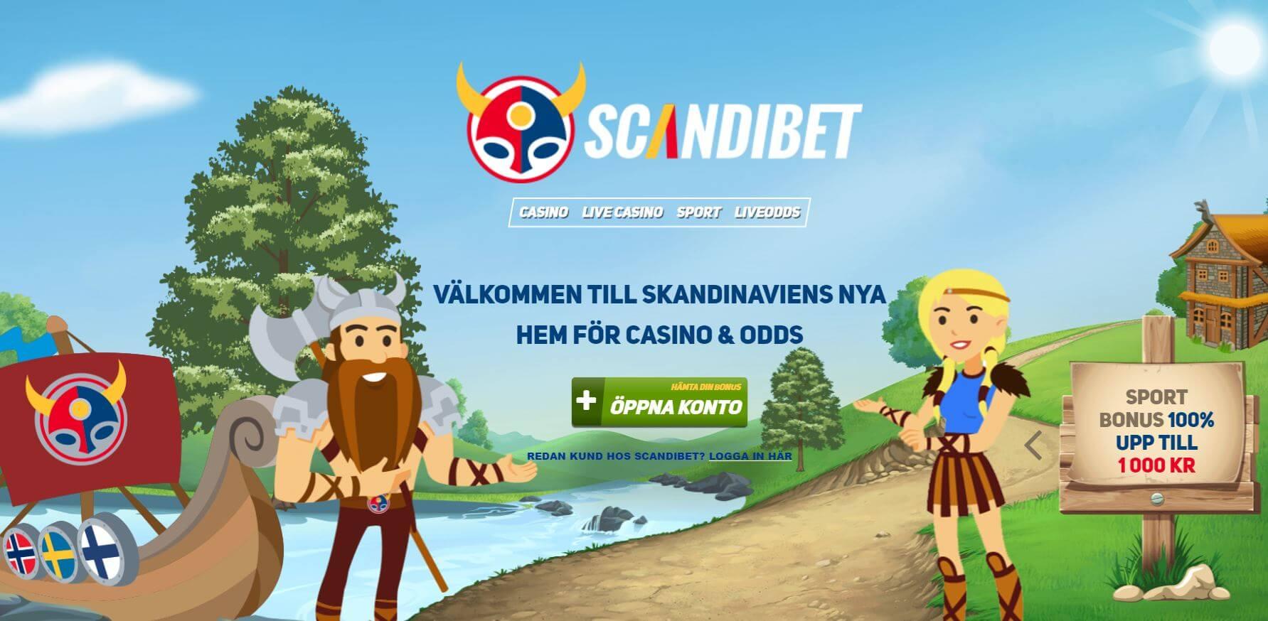 Scandibet startsida